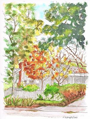 Dibujos Painting - Two Yellow Trees In West Hollywood - California by Carlos G Groppa