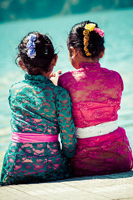 Mid Eastern Woman Photograph - Two Young Girls  by Mariusz Prusaczyk
