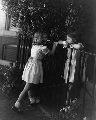 Two Young Girls Art Print