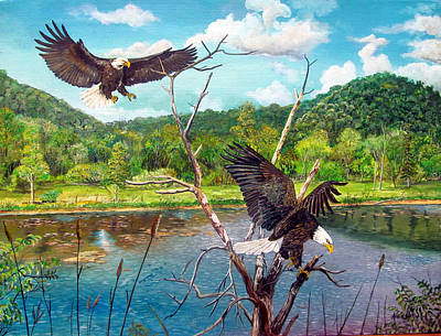 Soaring Painting - Two's Company by Alvin Hepler