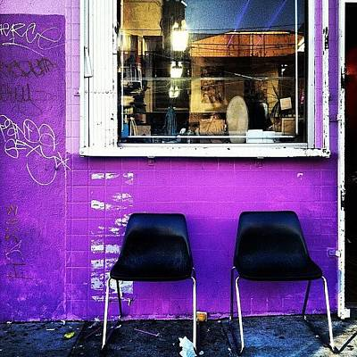 Purple Wall Art - Photograph - Two's Company by Courtney Haile