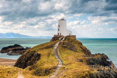 Lighthouse Digital Art - Twr Mawr Path by Adrian Evans