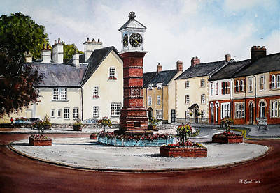 Painting - Twyn Square Usk Wales by Andrew Read