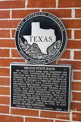 Studio Grafika Science - TX-13181 Briggs State Bank by Jason O Watson