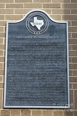 Tx-6418 First United Methodist Church Of Austin Art Print
