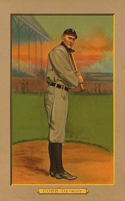 Painting - Ty Cobb Circa 1911 by George Pedro