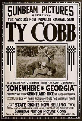 1916 Mixed Media - Ty Cobb - Movie Poster by Charlie Ross