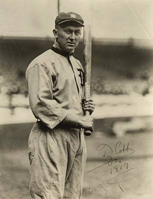 Detroit Tigers Photograph - Ty Cobb  Poster by Gianfranco Weiss