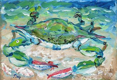 Tybee Blue Crab Mini Series Art Print by Doris Blessington