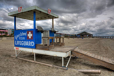 Tybee Island Lifeguard Stand Art Print by Peter Tellone