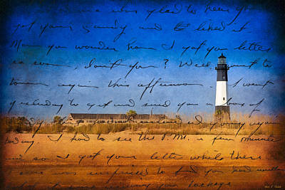 American Landmarks Photograph - Tybee Island Lighthouse - A Sentimental Journey by Mark E Tisdale
