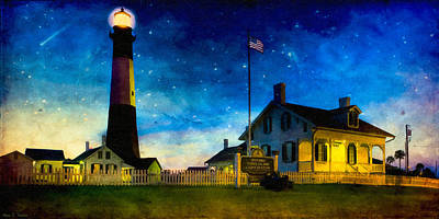 Photograph - Tybee Island Lighthouse Beneath The Stars by Mark E Tisdale