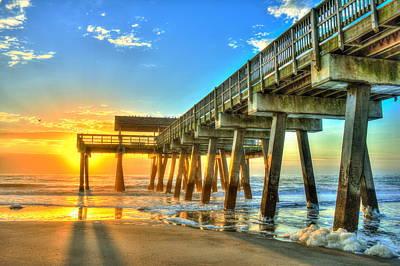 Best Ocean Photograph - Tybee Island Sunrise 7 by Reid Callaway