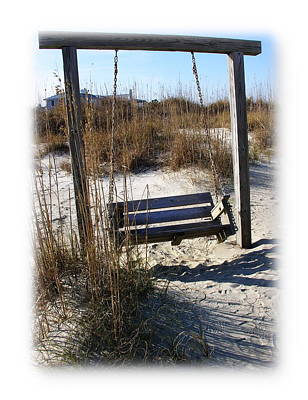 Photograph - Tybee Island Swing With Me by Jacqueline M Lewis