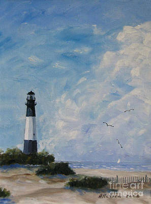 Sand Dunes Painting - Tybee Light by Stanton Allaben