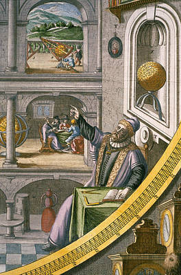 Planets Drawing - Tycho Brahe by Joan Blaeu