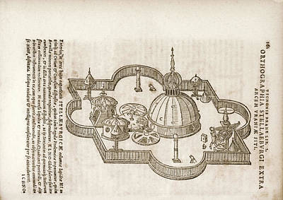 Tycho's Observatory Of Uraniborg Art Print by Library Of Congress