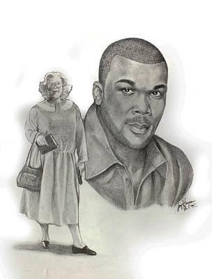 Tyler As Madea Art Print by Joyce Hayes