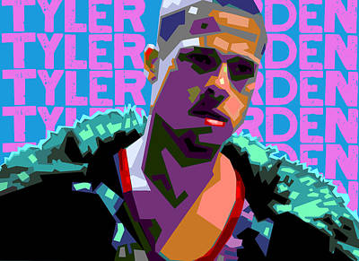 Fight Digital Art - Tyler Durden 1 by Douglas Simonson