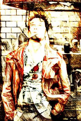 Blockbuster Digital Art - Tyler Durden by Andrea Barbieri