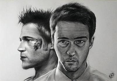 Norton Drawing - Tyler Durden by Atish Banerjee