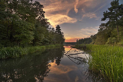 Tyler State Park Lake At Sunset Art Print