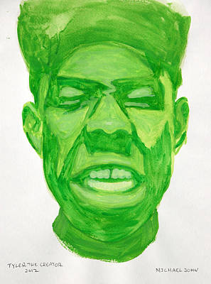 Painting - Tyler The Creator by Michael Ringwalt