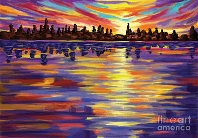 Art Print featuring the painting Tyler's Sunrise by Tim Gilliland