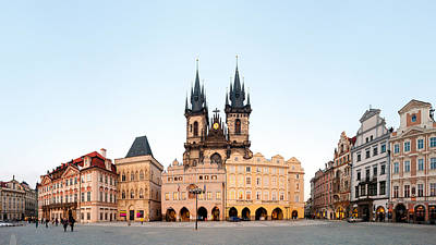 Prague Photograph - Tyn Cathedral On Old Town Square, Mala by Panoramic Images