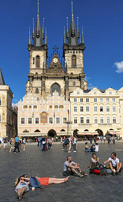 Photograph - Tyn Church In Prague Czech Republic Europe by Matthias Hauser