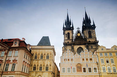 History Photograph - Tyn Church In Prague by Michal Bednarek