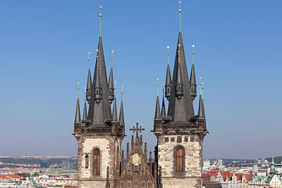 Prague Towers Photograph - Tyn Church, Prague Old Town Square by Panoramic Images