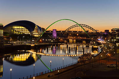 Personalized Name License Plates - Tyne bridges at twilight by David Head