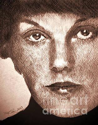 Robbi Musser Drawing - Tyne by Robbi  Musser