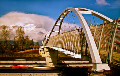British Columbia Digital Art - Tynehead Overpass by Eva Kondzialkiewicz