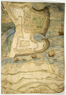 Cartography Photograph - Tynemouth Castle by British Library