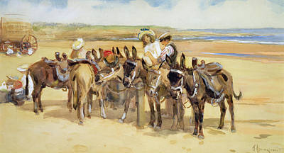 Donkey Painting - Tynemouth Sands by John Atkinson