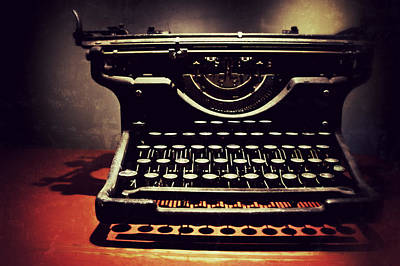 Underwood Typewriter Photograph - Typer's Dream by Brandon Addis