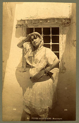 Berber Woman Photograph - Types Algerians, Moorish, Neurdein Brothers 1860 1890 by Litz Collection