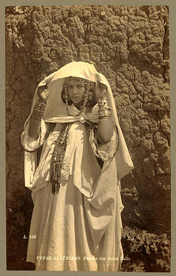 Berber Woman Photograph - Types Algerians Woman Of Ouled Nai ¨ Ls, Neurdein Brothers by Litz Collection