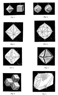 Types Of Diamonds Art Print by Science Photo Library