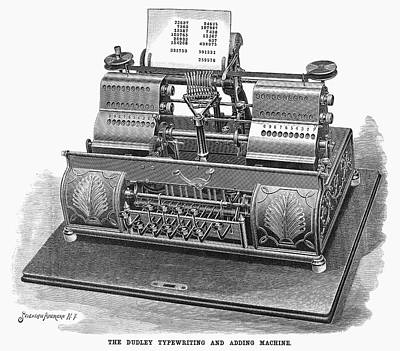 Typewriter Painting - Typewriter, 1896 by Granger