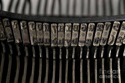 Typewriter Print by Bernard Jaubert