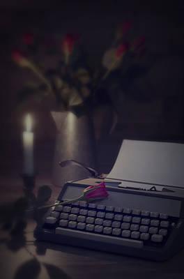 Typewriter By Candlelight Art Print