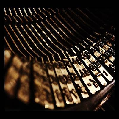 Typewriter Photograph - #typewriter by Christine Hooley