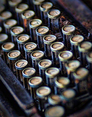 Photograph - Typewriter Keys by David and Carol Kelly