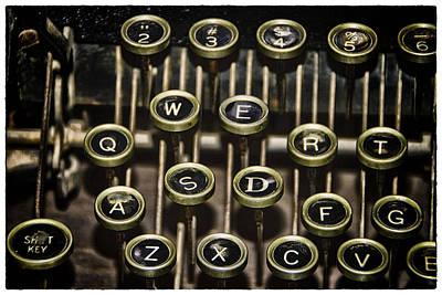 Photograph - Typewriter Keys by Jeanne Hoadley