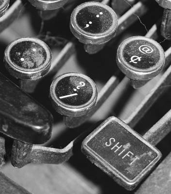 Wall Art - Photograph - Typewriter by Mary McGrath