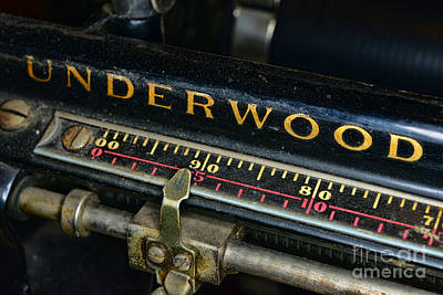 Antique Typewriter Photograph - Typewriter Paper Guide by Paul Ward