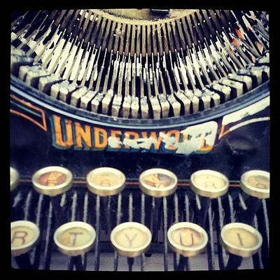 Steampunk Photograph - #typewriter #steampunk #writing by Devin Muylle